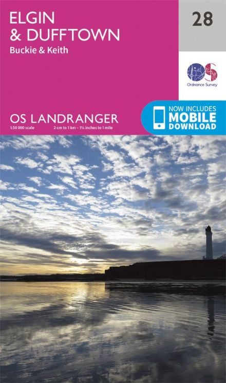 OS Landranger 28 - Elgin and Dufftown